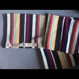 Coach multi coloured women's winter scarf.